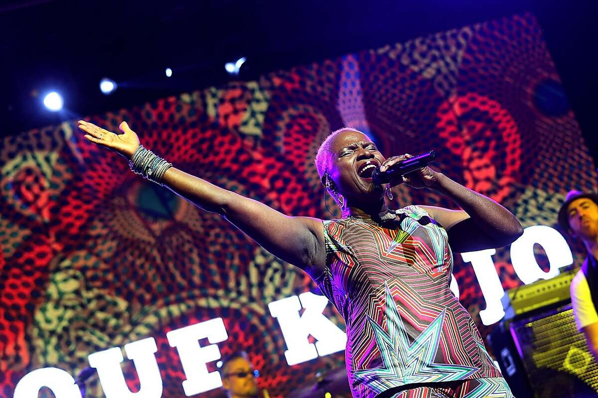 MANCHESTER, TENNESSEE - JUNE 09: Anjelique Kidjo performs in concert during day 2 of the Bonnaroo Music & Arts Festival on June 9, 2017 in Manchester, Tennessee.