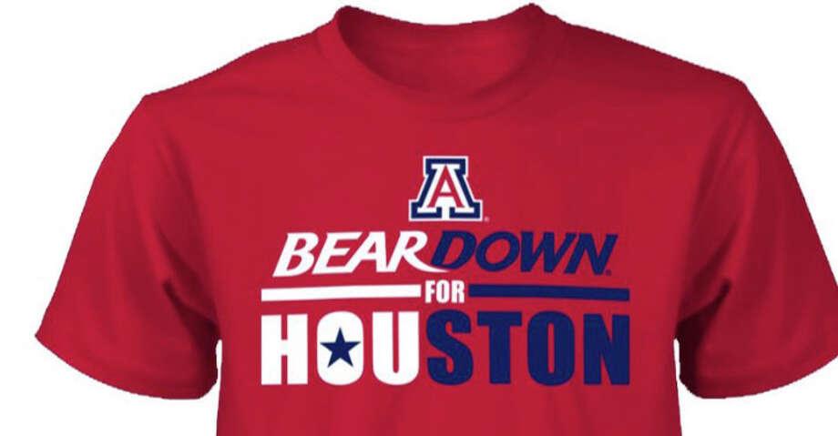 Arizona T-shirt designed as a fundraiser for Houston flood relief. Photo: Arizona