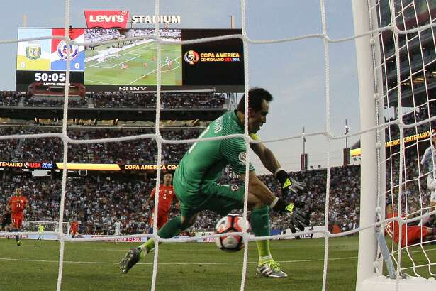 Levi's Stadium, which was a host for the Copa America Centenario last year, including a match between Argentina and Chile (above), is now in the mix for the 2026 World Cup.