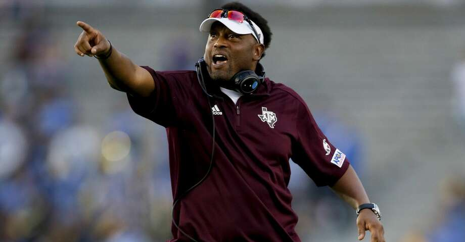 Texas A&M coach Kevin Sumlin received a piece of mail that included a racial slur and perhaps even a threat, according to Sumlin's wife. Photo: Danny Moloshok/Associated Press