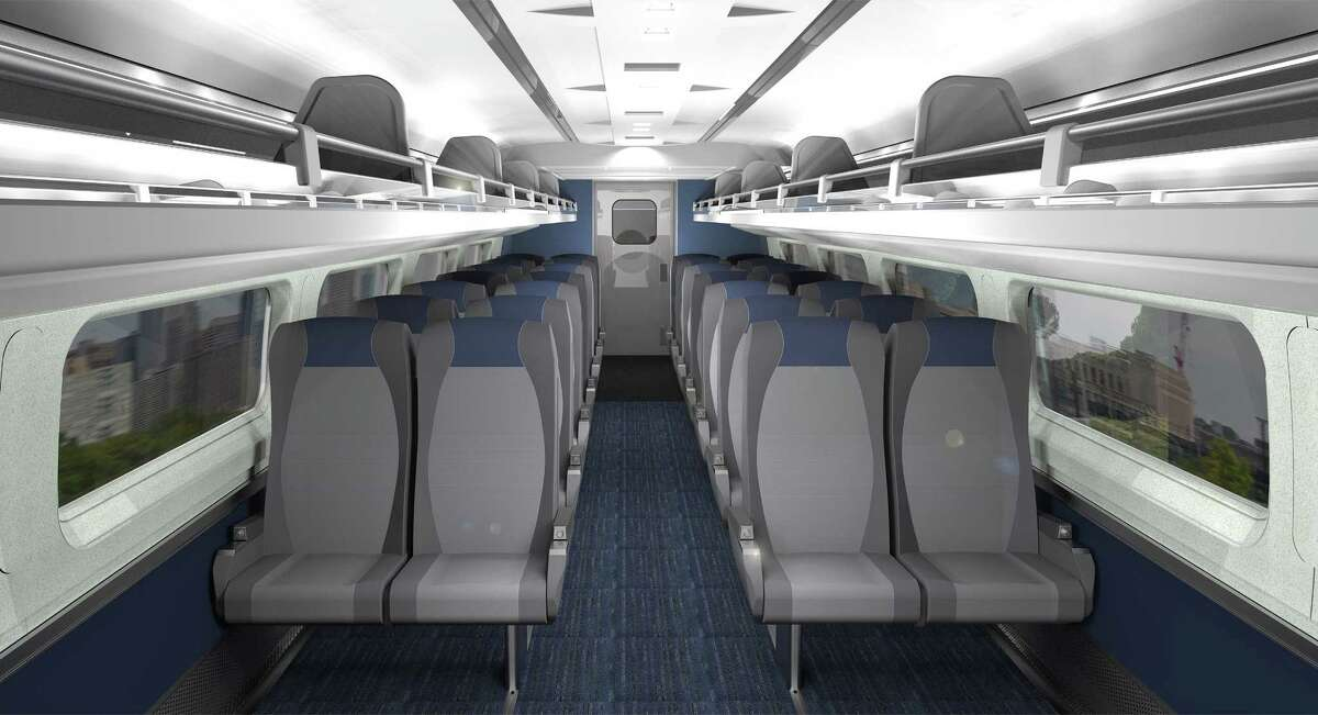 Courtesy of Amtrak Rendering of refreshed Amfleet coach seat cushions on board select Northeast, Midwest trains.