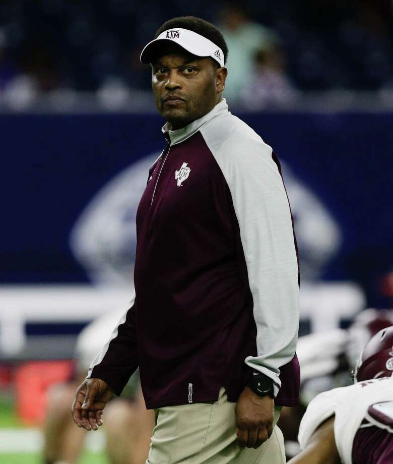 HOUSTON, TX - DECEMBER 28:  head coach Kevin Sumlin of the Texas A&M Aggies  watches over warm ups before playing Kansas State Wildcats in the AdvoCare V100 Texas Bowl on December 28, 2016 in Houston, Texas.  (Photo by Bob Levey/Getty Images) Photo: Bob Levey, Stringer / 2016 Getty Images