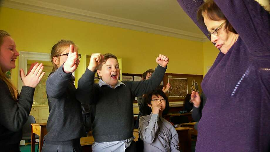 "Amanda Leyden teaches a class at Headfort School in Ireland in Neasa Ni Chianain and David Rane's ""School Life."" Photo: Magnolia Pictures"