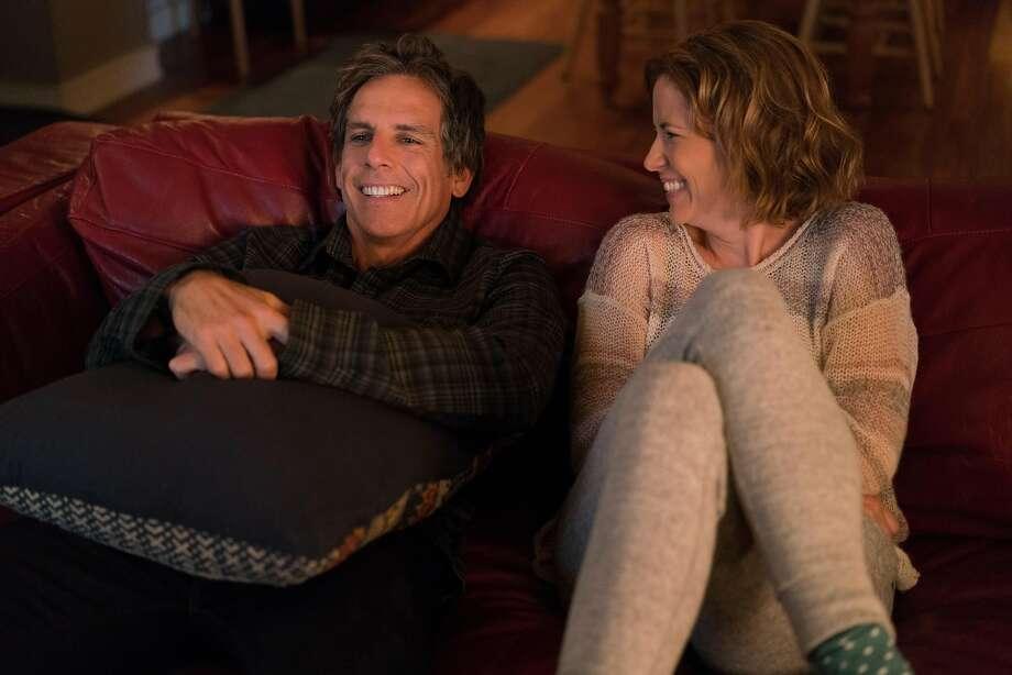 "Ben Stiller (left) stars as ""Brad"" and Jenna Fischer stars as ""Melanie"" in director Mike White's BRAD'S STATUS, an Amazon Studios release. Photo: Amazon Studios"