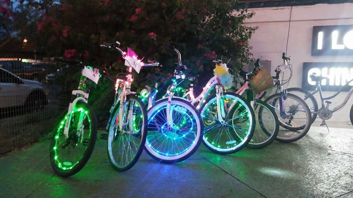 A group of local biking organizations will join up to host a holiday glow ride through the streets of downtown Laredo. For those unfamiliar with the event, it brings together bike riders of all skills for fun nighttime ride filled with bikes decked out in fabulous lights and colors. 7:30-10:30 p.m. Thursday, Pan American Food Courts, 513 San Bernardo Ave. FREE.