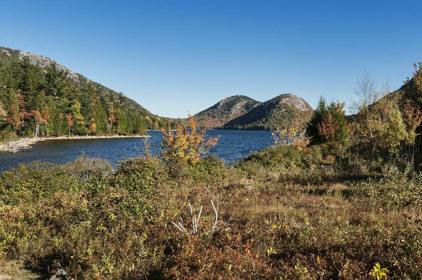 Maine Jordan Pond Shore Trail, Cadillac Mountain in Acadia National Park Distance: 3.3 miles