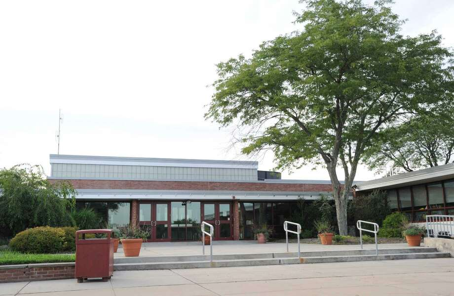 Exterior of the Parkway School building in Greenwich. Photo: Bob Luckey / Bob Luckey / Greenwich Time