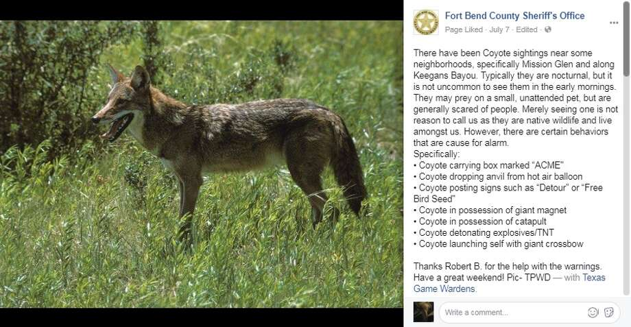 Fort Bend County Sheriff's OfficeThe sheriff and his deputies like to get a little cheeky sometimes. Photo: Facebook Screengrab