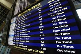 JetBlue canceled Friday evening flights to Fort Lauderdale and Southwest canceled southbound flights Saturday due to Hurricane Irma's expected hit on Florida.