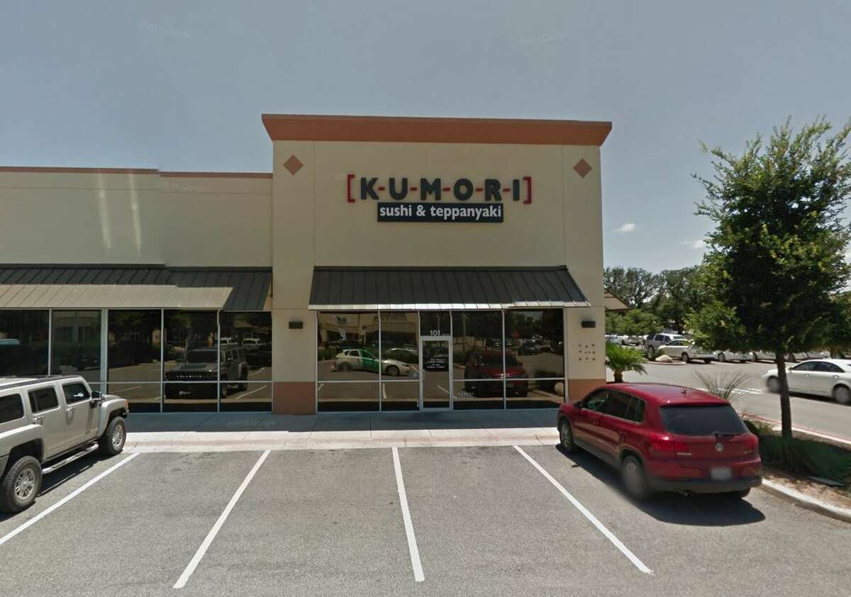 Kumori Sushi & Teppanyaki: 5519 W Loop 1604 Date: 04/16/2019 Score: 82 Highlights: Upper interior (within the ice chute) of large ice machine has much slim buildup/ black buildup. Food contact surfaces were not being sanitized correctly. Toxic chemicals were not labeled. Paper towels missing from hand washing sink. Uncovered drinks stored in the wrong place. Holes and cracks seen in facility.