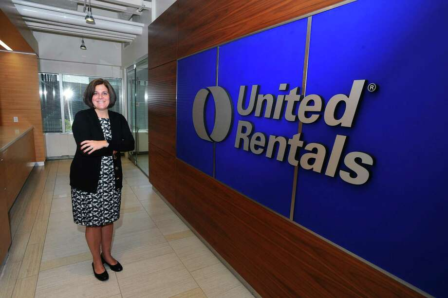 United Rentals senior vice president Jessica Graziano poses for a photo inside the company's headquarters at 100 First Stamford Place in Stamford, Conn. on Tuesday, Sept. 5, 2017. Photo: Michael Cummo / Hearst Connecticut Media / Stamford Advocate