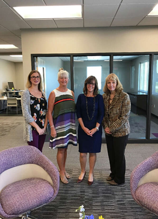 State Rep. Katie Stuart pictured with Edwardsville's Donco Electrical Construction LLC Marketing Coordinator Mandi Fowler, Owner and President Candice Fowler, and Vice President Lisa McQuaid. Photo: For The Intelligencer