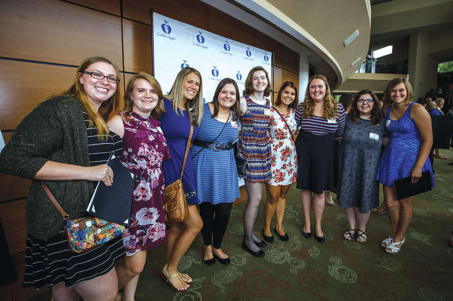 Meghan Brakhane, second from left, with other Golden Apple Scholars. Photo: For The Intelligencer