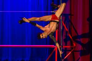 """The Vespertine Circus presents """"The Rocky Horror Circus Show."""" Pictured here is performer Reese Brindisi."""