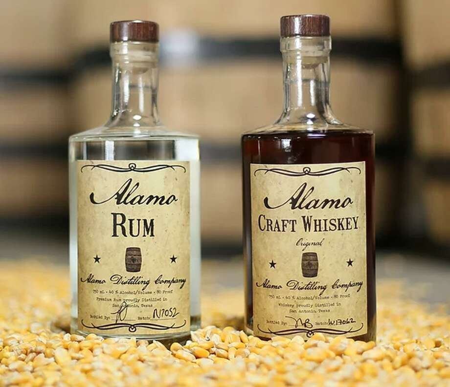 Alamo Distilling Co.'s Alamo Rum and Alamo Craft Whiskey are among the products that will be available for purchase during a grand opening party Sept. 23. Photo: Courtesy Alamo Distilling Co.
