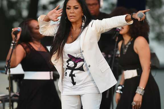 A photo essay of singer, songwriter and Queen of Percussion, Sheila E. perform a variety of songs ranging from R&, Latin to jazz, Saturday, July 29, 2017, in front of a jam-packed crowd at Music on the Green in New Haven. The concert series is produced by Market New Haven, a private/public partnership with production by the Shubert/CAPA.