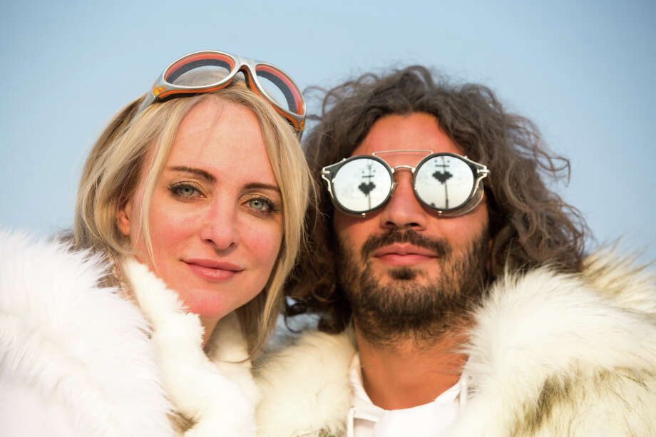 Dr. Jen Reichel and Aghiad Mhana of Seattle at Burning Man 2017. Photo: Sidney Erthal / Burning Man