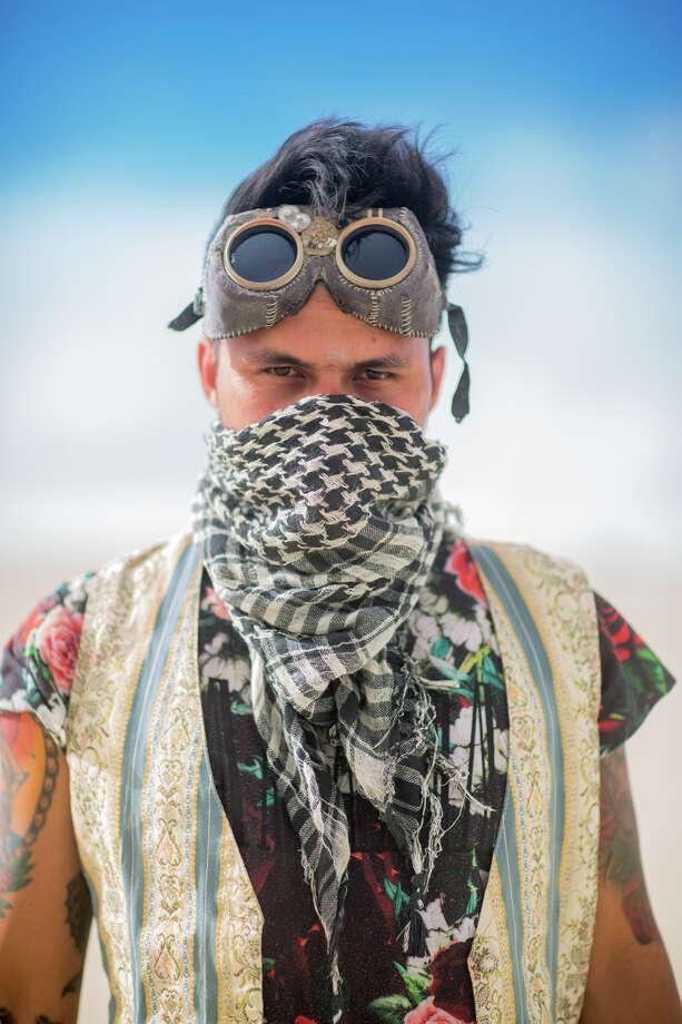 A participant at Burning Man 2017. Photo: Sidney Erthal / Burning Man
