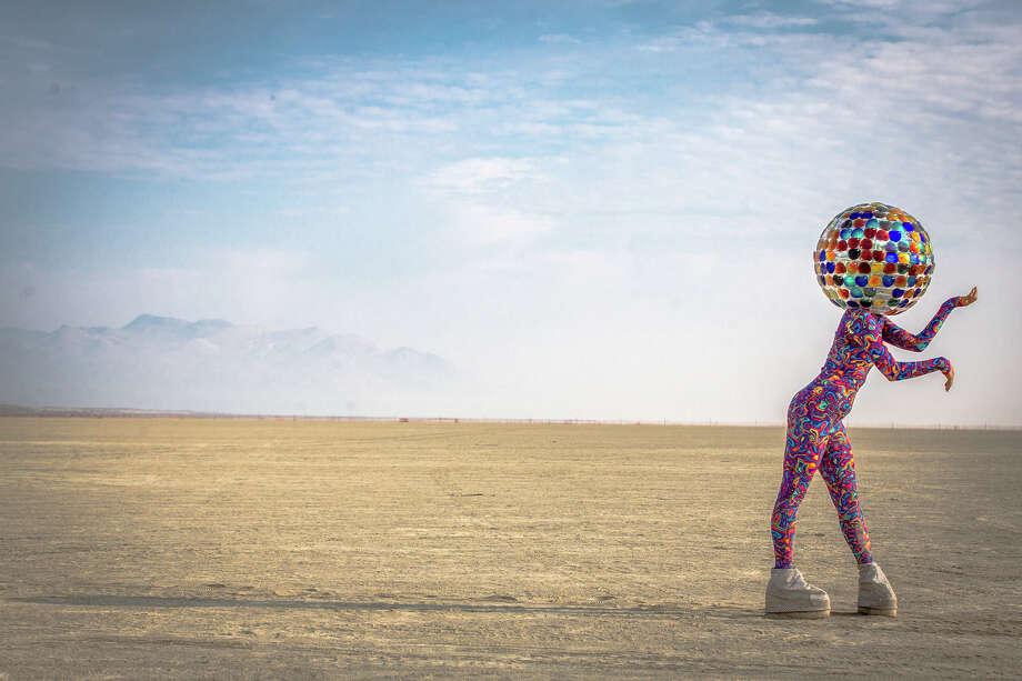 Visual Artist Osher Aussouline at Burning Man 2017. Photo: Sidney Erthal / Burning Man