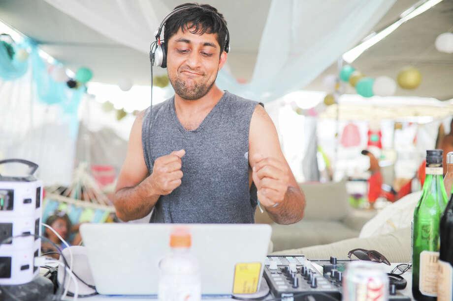 Akshay Dodeja DJs at Burning Man 2017. Photo: Courtesy Jane Hu