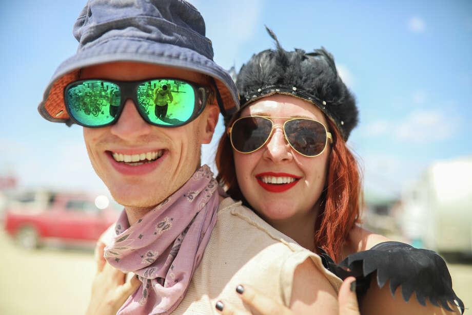 Peter Bartholomaus and Jordan Berry at Burning Man 2017. Photo: Courtesy Jane Hu