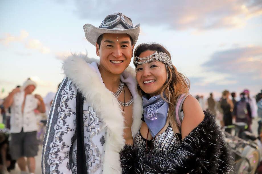 A couple of particpants at Burning Man 2017. Photo: Courtesy Jane Hu