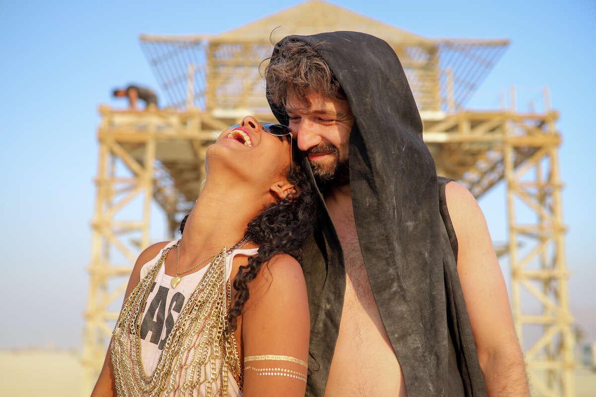 Tanita Preston and Ilya Khaykin at Burning Man 2017.