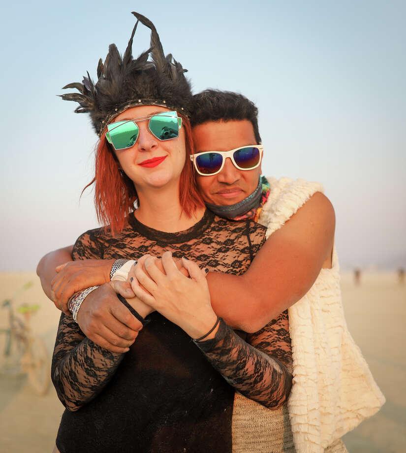 Jordan Berry and Rajib Rashid at Burning Man 2017. Photo: Courtesy Jane Hu