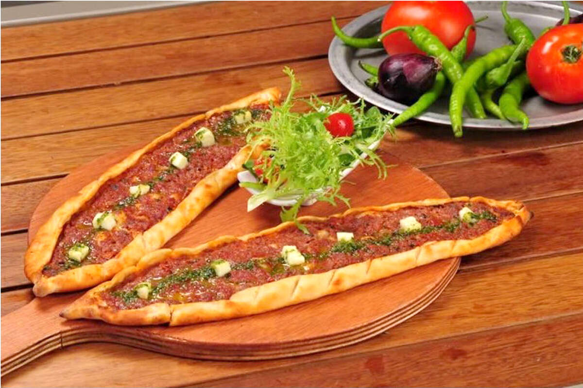 Turkish Flat Bread - Minced lamb and ground beef in a flat bread. Phone: (210) 736-2887 CLICK HERE!
