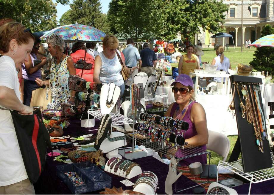 The 10th annual Old-Fashioned Flea Market at the Lockwood-Mathews Mansion Museum will feature an enormous variety of items, as well as food demos and a classic car show, Sunday, Sept. 17, in Norwalk. Photo: Sarah Grote Photography / Contributed Photo