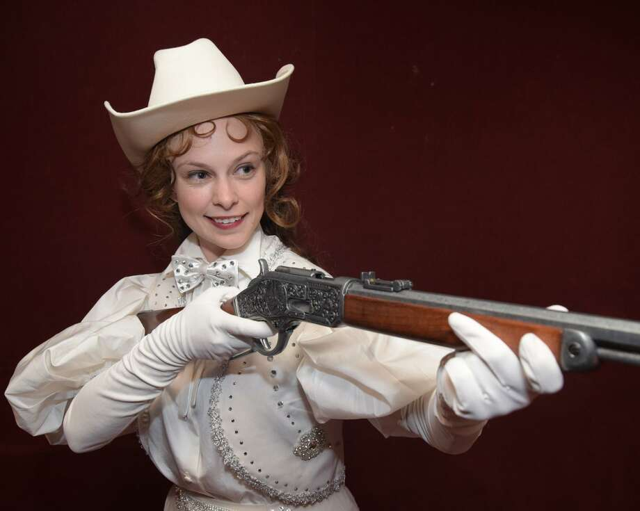 """Devon Perry stars as Annie Oakley in the Westchester Broadway Theatre's production of """"Annie Get Your Gun."""" Photo: John Vecchiolla / Contributed Photo / Connecticut Post contributed"""