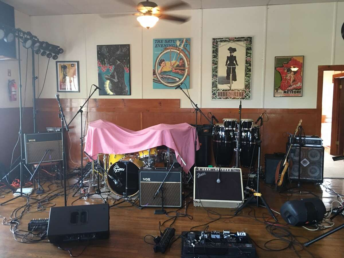 An inactive band set-up at The Hub. (Photo by Susie Davidson Powell)