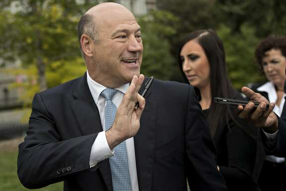 Gary Cohn, director of the U.S. National Economic Council, speaks to members of the media after a Bloomberg Television interview outside the White House in Washington, D.C., U.S., on Friday, Sept. 1, 2017. Cohn deflected questions about whether he'd like to succeed Janet Yellen as chair of the Federal Reserve and repeated that he's happy in his current role as director of President Donald Trump's National Economic Council. Photographer: Andrew Harrer/Bloomberg