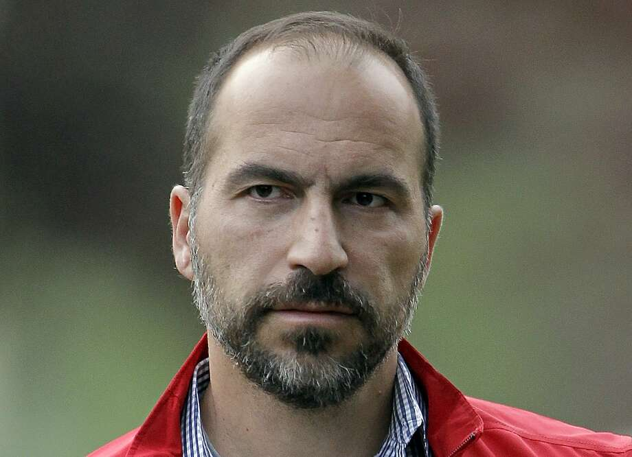 FILE - In this July 13, 2012, file photo, Expedia CEO Dara Khosrowshahi attends the Allen & Company Sun Valley Conference in Sun Valley, Idaho. New Uber CEO Khosrowshahi will begin work with an employee meeting Wednesday, Aug. 30, 2017, at the company�s San Francisco headquarters. (AP Photo/Paul Sakuma, File) Photo: Paul Sakuma, Associated Press