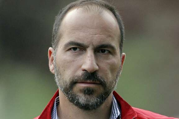 FILE - In this July 13, 2012, file photo, Expedia CEO Dara Khosrowshahi attends the Allen & Company Sun Valley Conference in Sun Valley, Idaho. New Uber CEO Khosrowshahi will begin work with an employee meeting Wednesday, Aug. 30, 2017, at the company�s San Francisco headquarters. (AP Photo/Paul Sakuma, File)