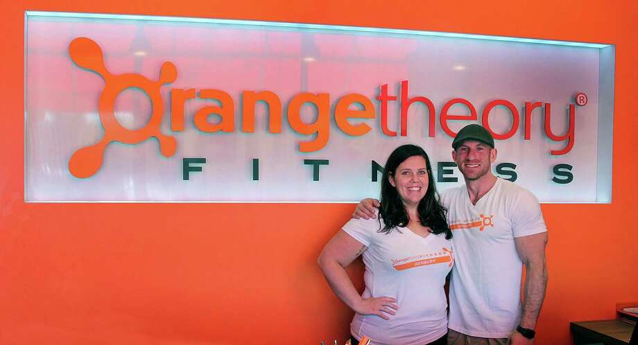 Duffy McGuire and Nick Cooper of Orange Theory Fitness in Danbury, Conn., stand in their new facility on Friday, Sept. 8, 2017. Photo: Chris Bosak / Hearst Connecticut Media / The News-Times