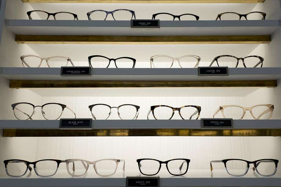 Warby Parker eyewear is displayed at a company retail store, Wednesday, Sept. 6, 2017, in New York.  Photo: Mark Lennihan, Associated Press