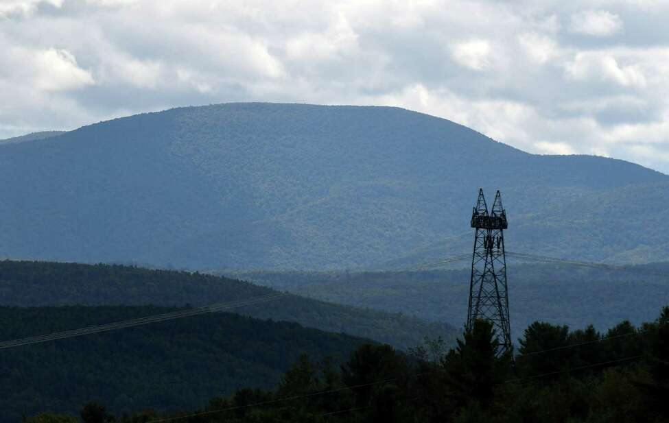 Power lines lead out of the Schoharie Valley on Friday, Sept. 8, 2017, in Schoharie County, N.Y. (Will Waldron/Times Union)