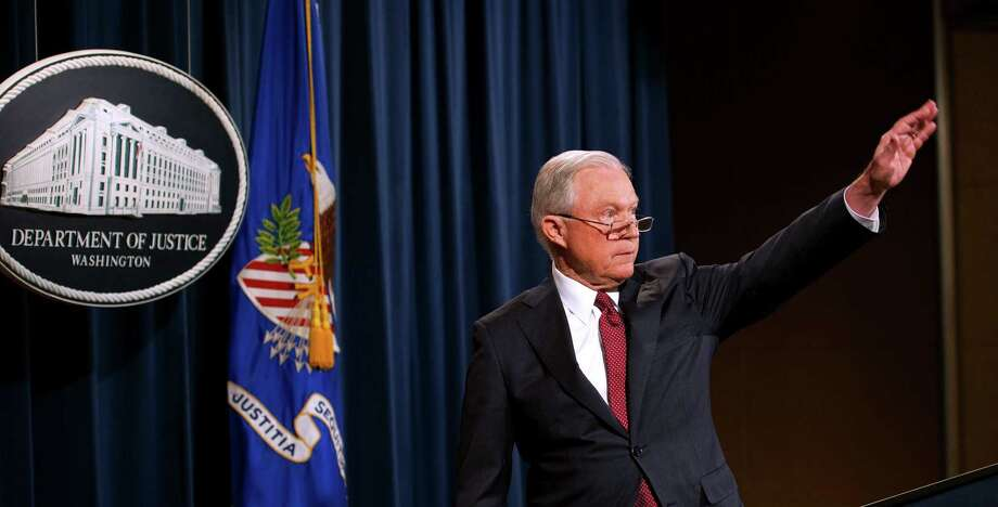 US Attorney General Jeff Sessions waves after speaking on the Deferred Action for Childhood Arrivals (DACA) program on Tuesday at the Justice Department in Washington, DC. The president was right in rescinding the program because presidents — in this case Obama in 2012 — do not enact laws, which amnesty for so-called DREAMers constituted. Photo: PAUL J. RICHARDS /AFP /Getty Images / AFP or licensors