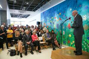 Dr. Art Ablin, co-founder of Family House speaks during the opening of Family House, a free temporary housing facility for families of children who are sick with life-threatening illnesses, in San Francisco, California, on Wednesday,  March 2, 2016.