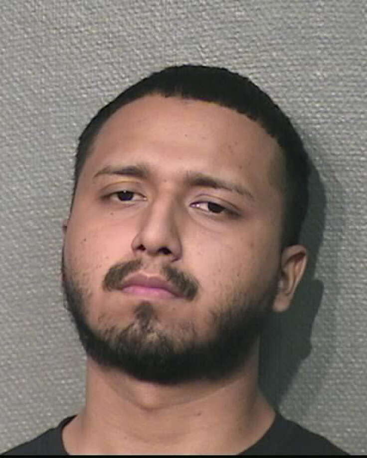 Victor Sanchez, 29, and Jose Portillo, 20, are both charged with aggravated assault on a police officer after shooting at officers around 1:35 a.m. at 7075 North Freeway, according to a news release from the Houston Police Department.
