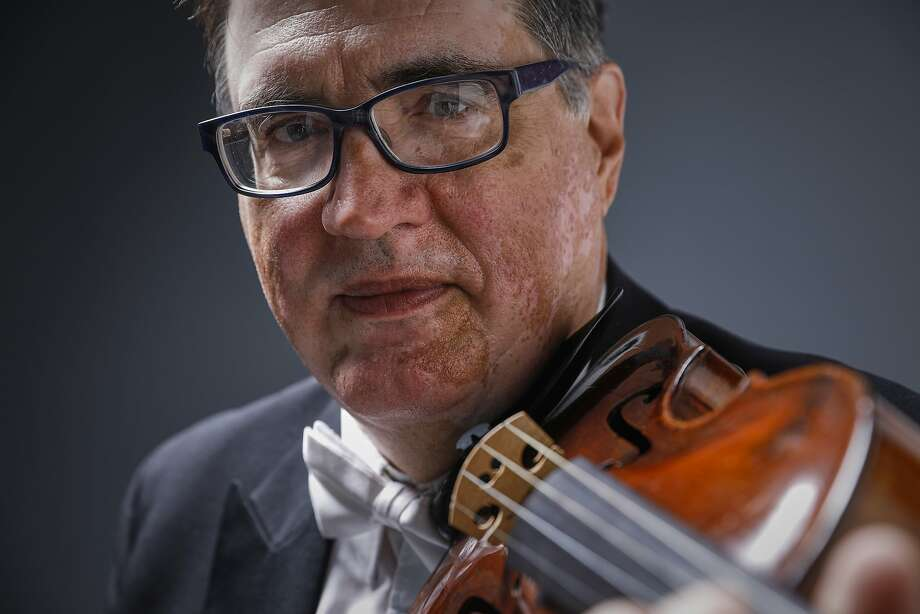 Violinist Mark Volkert is retiring after this week's concerts with the San Francisco Symphony. Photo: Russell Yip, The Chronicle