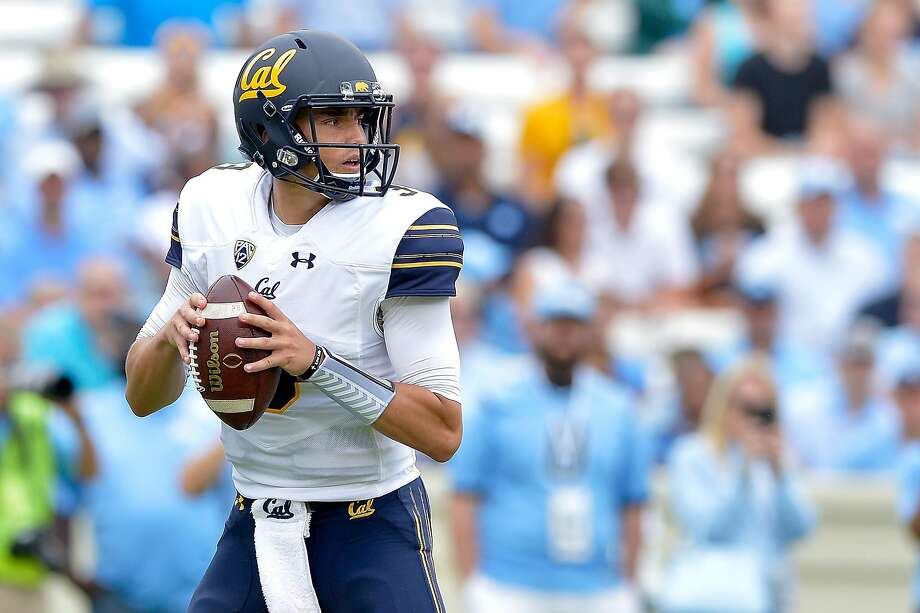 CHAPEL HILL, NC - SEPTEMBER 02:  Ross Bowers #3 of the California Golden Bears drops back to pass against the North Carolina Tar Heels during their game at Kenan Stadium on September 2, 2017 in Chapel Hill, North Carolina.  (Photo by Grant Halverson/Getty Images) Photo: Grant Halverson, Getty Images