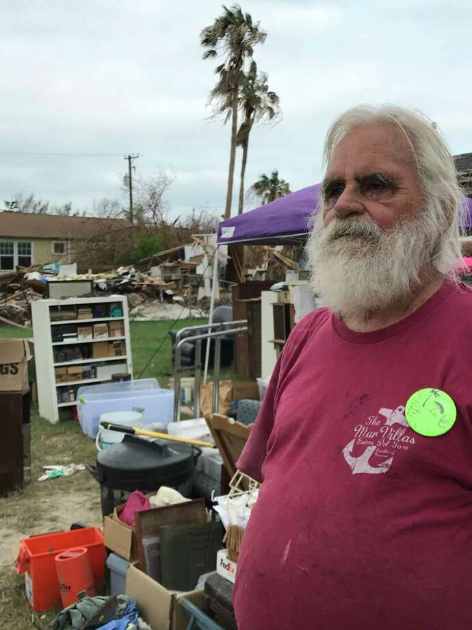 """My house needed work anyway,"" said Port Aransas native Johnny Brundrette. / Houston Chronicle"