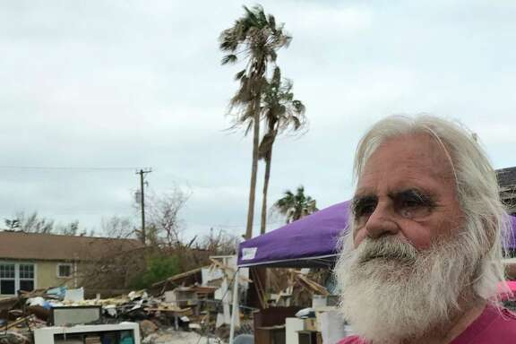 """My house needed work anyway,"" said Port Aransas native Johnny Brundrette."