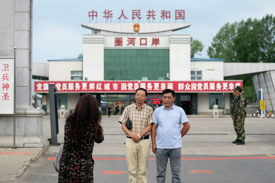 The Quanhe border crossing is located between China and North Korea in Yanbian in northeastern China's Jilin province. China is North Korea's largest trading partner. Photo: STR / Copyright 2017 The Associated Press. All rights reserved.