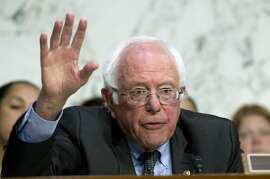 Sen. Bernie Sanders, D-Vt. speaks to governors at the Senate Health, Education, Labor, and Pensions Committee during a hearing to discuses ways to stabilize health insurance markets?, on Capitol Hill in Washington, Thursday, Sept. 7, 2017. ( AP Photo/Jose Luis Magana)