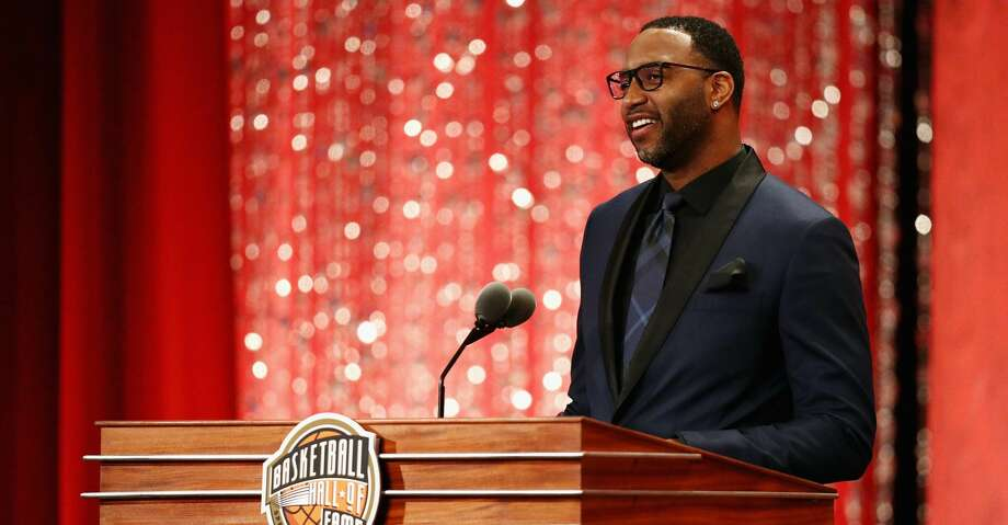 SPRINGFIELD, MA - SEPTEMBER 08:  Naismith Memorial Basketball Hall of Fame Class of 2017 enshrinee Tracy McGrady speaks during the 2017 Basketball Hall of Fame Enshrinement Ceremony at Symphony Hall on September 8, 2017 in Springfield, Massachusetts.  (Photo by Maddie Meyer/Getty Images) Photo: Maddie Meyer/Getty Images