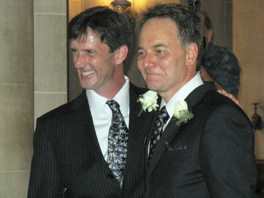 Brian and Kevin on their wedding day. Photo: Courtesy Kevin Fisher-Paulson