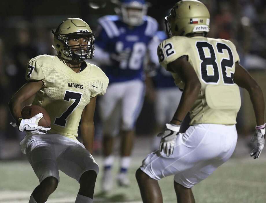20. Seguin Matadors Record: 7-2 5A-1 Region III District 12  Opponents with a winning record: 3  Week 10 result: W - Defeated Austin Lanier 63-0 Photo: Tom Reel, Staff / San Antonio Express-News / 2017 SAN ANTONIO EXPRESS-NEWS